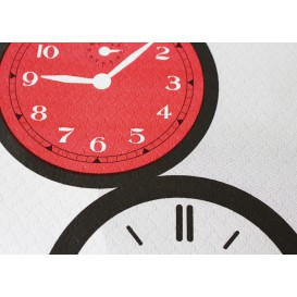 """Voorgesneden papieren tafelkleed """"Tictac"""" 37g 1x1m (400 stuks)"""