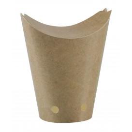 Papieren take-out doos kraft gesloten 325ml (50 stuks)