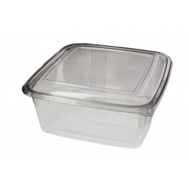 Plastic scharnierende Deli-Container PET Vierkant 2000ml (200 stuks)