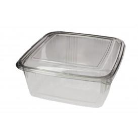 Plastic scharnierende Deli-Container PET Vierkant 2000ml (50 stuks)