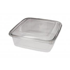 Plastic scharnierende Deli-Container PET Vierkant 1500ml (50 stuks)