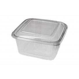 Plastic scharnierende Deli-Container PET Vierkant 1000ml (100 stuks)