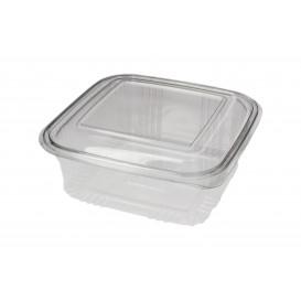 Plastic scharnierende Deli-Container PET Vierkant 750ml (100 stuks)