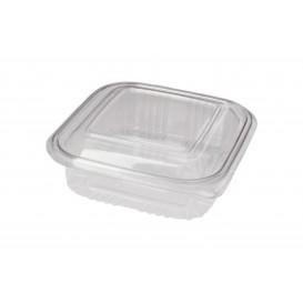 Plastic scharnierende Deli-Container PET Vierkant 370ml (100 stuks)