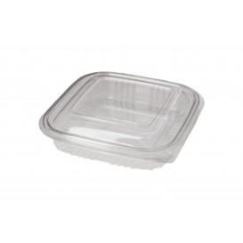 Plastic scharnierende Deli-Container PET Vierkant 250ml (100 stuks)