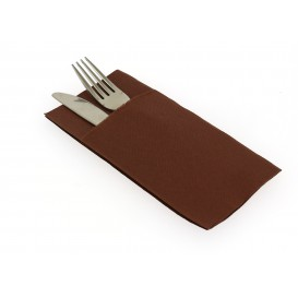 Zakvouw papieren servet bruin 40x40cm (30 stuks)