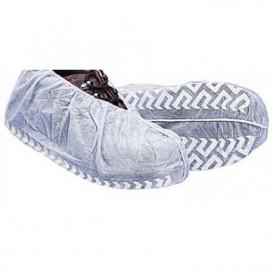 "Wegwerp plastic schoen omhulsel ""TST"" Anti-Slip wit (100 stuks)"