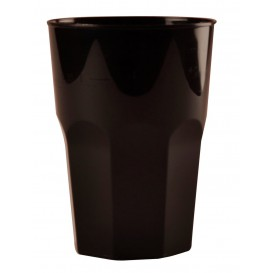 Plastic beker voor Cocktail PP zwart Ø8,4cm 350ml (420 stuks)