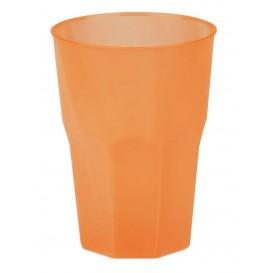 "Plastic PP beker ""Frost"" oranje 350ml (420 stuks)"