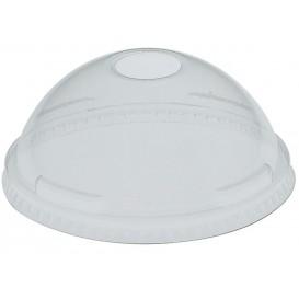 Plastic PET koepel Deksel met gat Kristal Ø10,7cm (500 stuks)