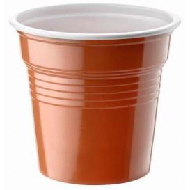 Vaso de Plastico PS Bicolor Marrón 80ml Ø5,7cm (2400 Uds)
