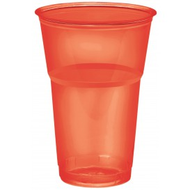 "Vaso ""Diamant"" PS Cristal Rojo 250ml Ø7,3cm (200 Uds)"