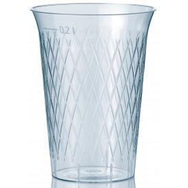 """Plastic PS beker Geïnjecteerde glascider """"Rombos"""" 200 ml (50 stuks)"""