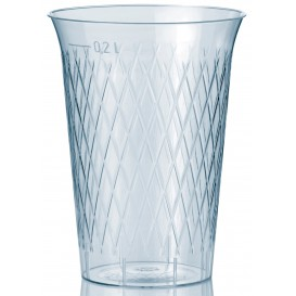 """Plastic PS beker Geïnjecteerde glascider """"Rombos"""" 200 ml (1000 stuks)"""