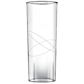 "Plastic Collins PS glas ""Moon"" transparant 300ml (10 stuks)"