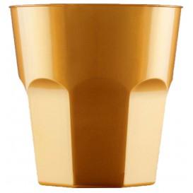 Plastic beker voor Cocktail PS goud Ø7,3cm 220ml (1000 stuks)