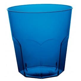 Plastic PS beker blauw transparant Ø7,3cm 220ml (50 stuks)