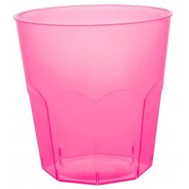 Plastic PS beker fuchsia transparant Ø7,3cm 220ml (1000 stuks)