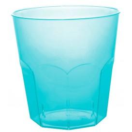 Vaso Plastico Turquesa Transp. PS Ø73mm 220ml (500 Uds)
