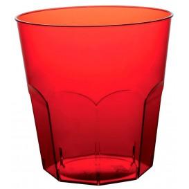 Vaso Plastico Rojo Transp. PS Ø73mm 220ml (50 Uds)