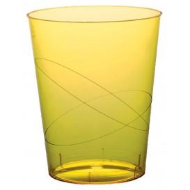 Vaso de Plastico Moon Amarillo Transp. PS 350ml (200 Uds)