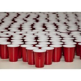 Plastic PS beker Amerikaanse Red Party Bekers 360ml (1000 stuks)