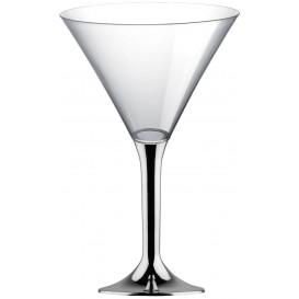 Plastic stamglas Cocktail zilver chroom 185ml 2P (20 stuks)