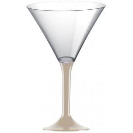 Plastic stamglas Cocktail beige 185ml 2P (200 stuks)
