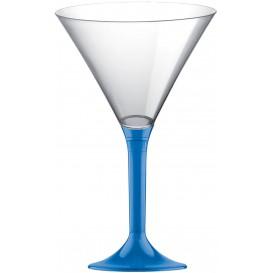 Plastic stamglas Cocktail blauw transparant 185ml 2P (20 stuks)