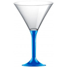 Plastic stamglas Cocktail mediterranean blauw 185ml 2P (20 stuks)