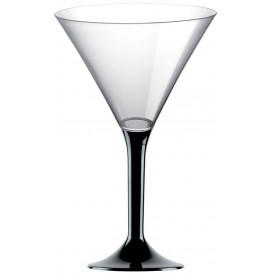 Plastic stamglas Cocktail zwart 185ml 2P (20 stuks)