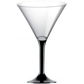 Plastic stamglas Cocktail zwart 185ml 2P (200 stuks)