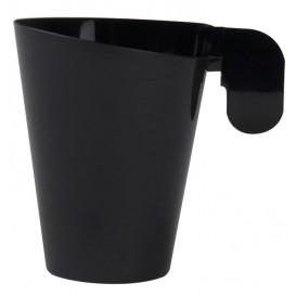 """Plastic beker """"Design"""" zwart 72ml (12 stuks)"""
