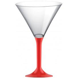 Plastic stamglas Cocktail rood 185ml 2P (200 stuks)