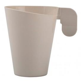 "Plastic beker ""Design"" crème 155ml (12 stuks)"