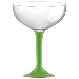 Plastic stam fluitglas limoengroen 200ml 2P (20 stuks)