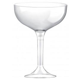 Copa de Plastico Champan con Pie Transparente 200ml (200 Uds)