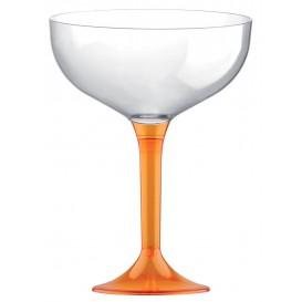 Plastic stam fluitglas oranje Kristal 200ml 2P (20 stuks)