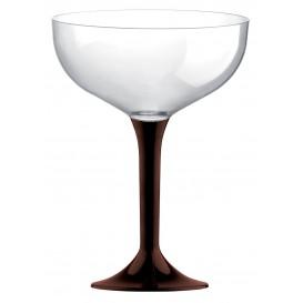 Plastic stam fluitglas bruin 200ml 2P (20 stuks)