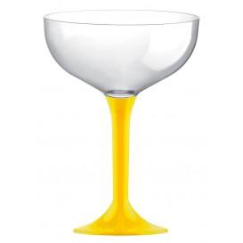 Plastic stam fluitglas geel 200ml 2P (200 stuks)