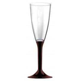 Plastic stam fluitglas Mousserende Wijn bruin 120ml 2P (20 stuks)