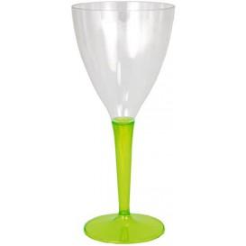 Plastic stamglas wijn groen 130ml (6 stuks)