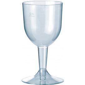 """Plastic glas Water of Wijn """"Premium"""" verwijderbare stam 140ml (20 stuks)"""