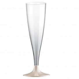 Plastic stam fluitglas Mousserende Wijn crème 140ml 2P (20 stuks)