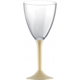 Plastic stamglas wijn crème verwijderbare stam 180ml (20 stuks)
