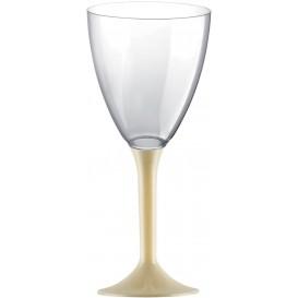 Plastic stamglas wijn crème verwijderbare stam 180ml (200 stuks)