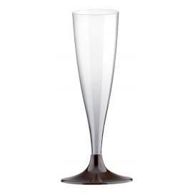 Plastic stam fluitglas Mousserende Wijn bruin 140ml 2P (20 stuks)