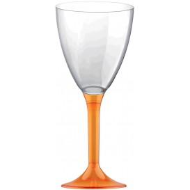 Plastic stamglas wijn oranje transparant verwijderbare stam 180ml (20 stuks)