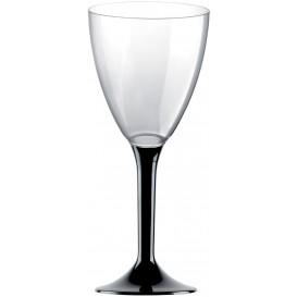 Plastic stamglas wijn zwart verwijderbare stam 180ml (200 stuks)