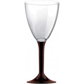Plastic stamglas wijn bruin verwijderbare stam 180ml (20 stuks)